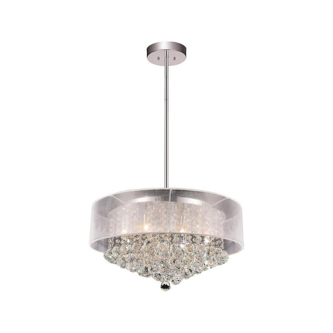 Cwi Lighting Arley 6 Light Chrome Transitional Chandelier In The Chandeliers Department At Lowes Com