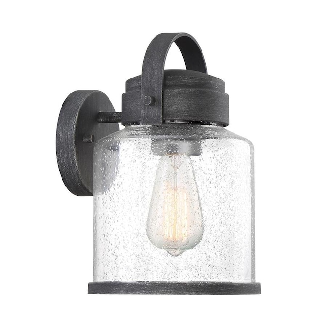 Designers Fountain Portland 9 75 In H Galvanized Medium Base E 26 Outdoor Wall Light In The Outdoor Wall Lights Department At Lowes Com