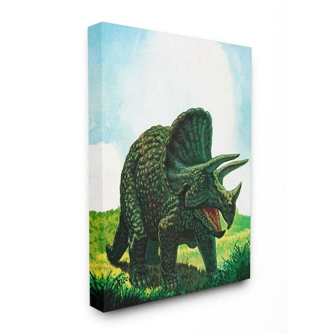 Stupell Industries Dinosaur Field Blue Green Kids Nursery Painting Frameless 40 In H X 30 In W Abstract Canvas Print In The Wall Art Department At Lowes Com