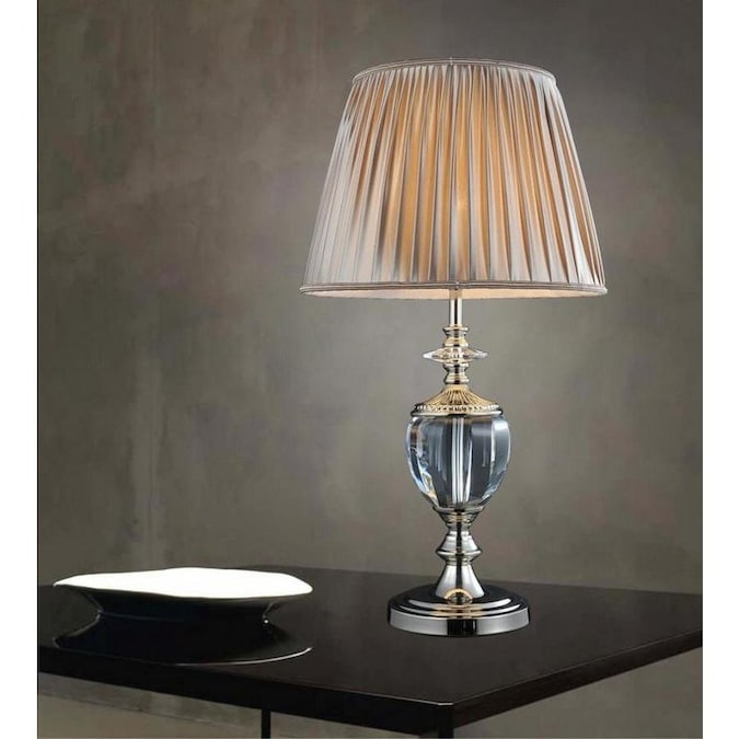 Cwi Lighting Yale 27 In Silver Table Lamp With Fabric Shade In The Table Lamps Department At Lowes Com