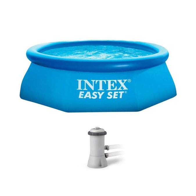 Bestway 8 Ft X 8 Ft X 26 In Round Above Ground Pool In The Above Ground Pools Department At Lowes Com
