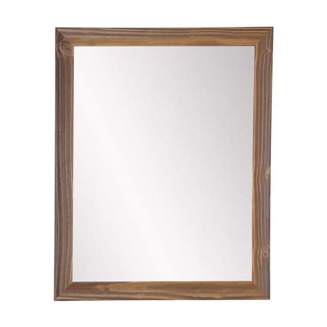 Ore International Wall Mirror 24 In L X 30 In W Light Brown Polished Wall Mirror In The Mirrors Department At Lowes Com