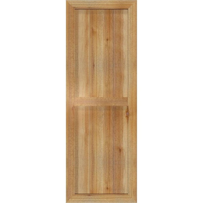 Ekena Millwork Unfinished Western Red Cedar 2 Pack 16 125 In W X 46 In H Framed Board And Batten Wood Exterior Shutters In The Exterior Shutters Department At Lowes Com
