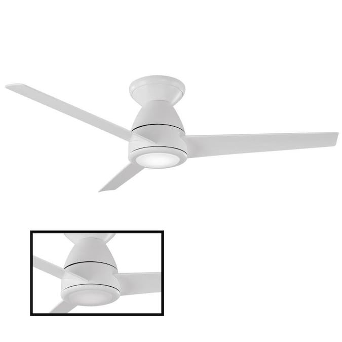 Modern Forms Tip Top Matte White 44 In Led Indoor Outdoor Flush Mount Smart Ceiling Fan 3 Blade In The Ceiling Fans Department At Lowes Com
