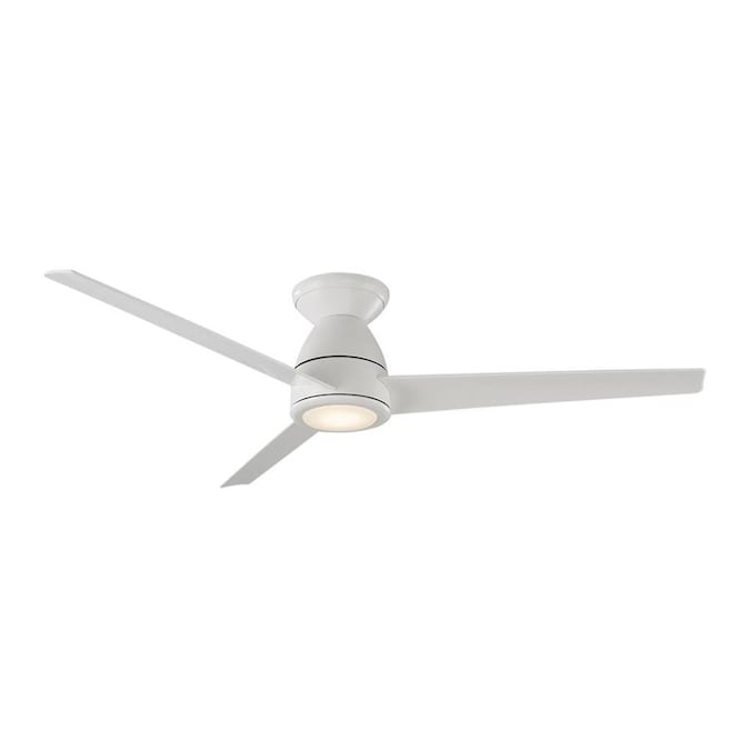 Modern Forms Axis 52 In Matte White Led Indoor Outdoor Flush Mount Smart Ceiling Fan With Light And Remote 3 Blade In The Ceiling Fans Department At Lowes Com