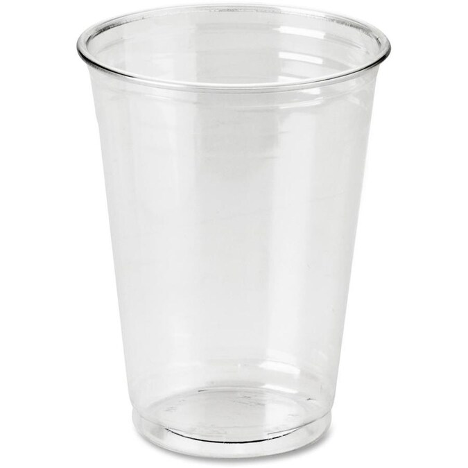 Dixie 25 Count 10 Oz Clear Plastic Disposable Cup In The Disposable Cups Department At Lowes Com