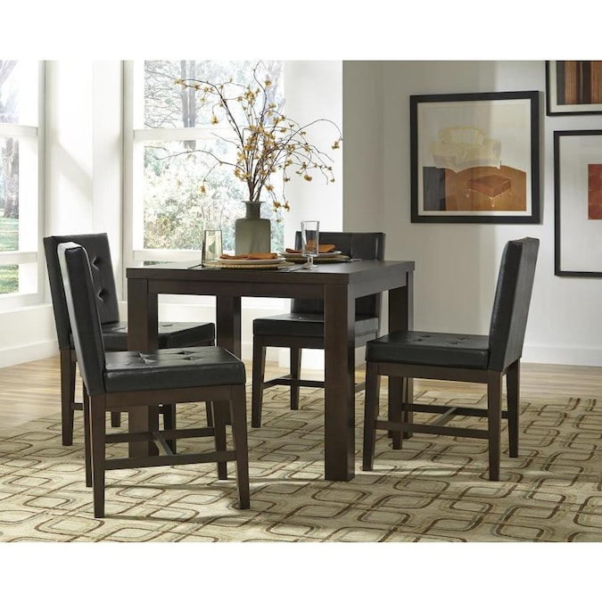 Progressive Furniture Athena Dark Chocolate Dining Table Wood Veneer With Dark Chocolate Wood Base In The Dining Tables Department At Lowes Com