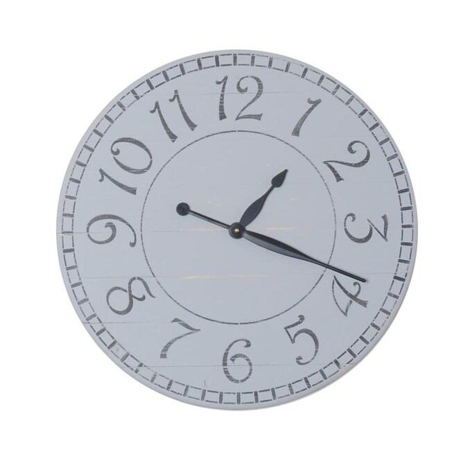 Brandtworks Oversized Paris Wall Clock In The Clocks Department At Lowes Com