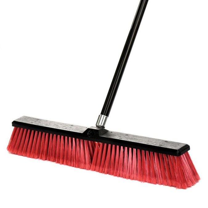 Alpine Industries 24 In Poly Fiber Push To Center Push Broom In The Brooms Department At Lowes Com