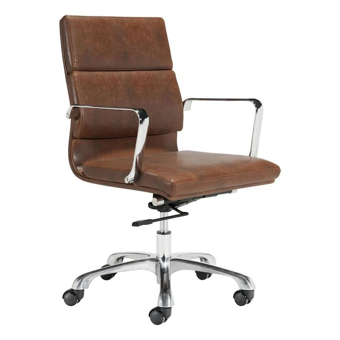 Zuo Modern Specify Black Contemporary Ergonomic Adjustable Height Swivel Executive Chair In The Office Chairs Department At Lowes Com