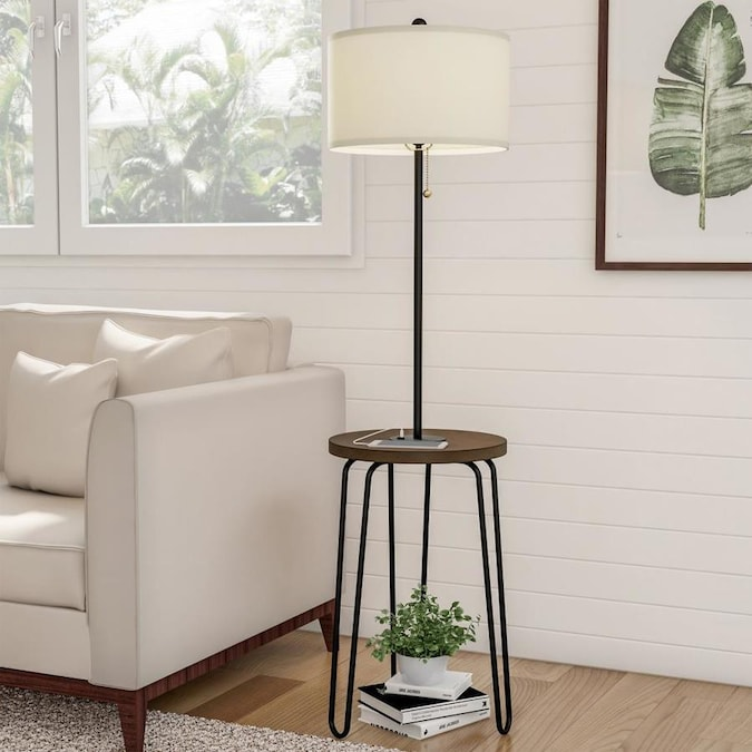 Cresswell Briar 59 In Brushed Steel Tripod Floor Lamp In The Floor Lamps Department At Lowes Com