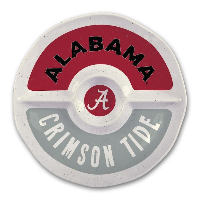Magnolia Lane Alabama Crimson Tide More Than Tailgating 15 In X 15 In Alabama 3 Divided Round Serving Platter In The Serving Trays Caddies Department At Lowes Com