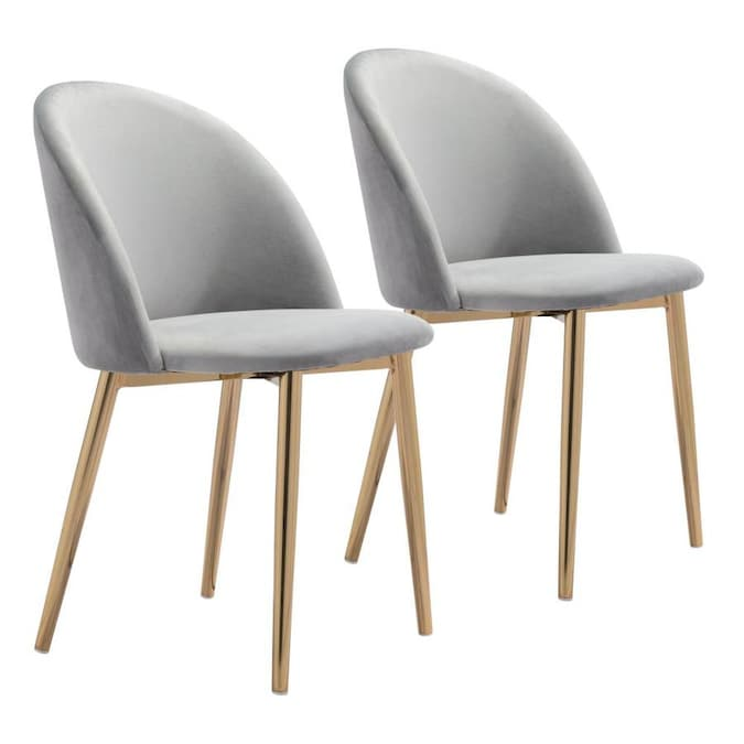Zuo Modern Set Of 2 Cozy Contemporary Modern Polyester Polyester Blend Upholstered Dining Side Chair Metal Frame In The Dining Chairs Department At Lowes Com