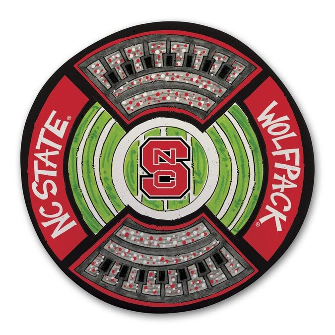 Magnolia Lane North Carolina State Wolfpack More Than Tailgating 13 5 In X 13 5 In Nc State Round Serving Platter In The Serving Trays Caddies Department At Lowes Com