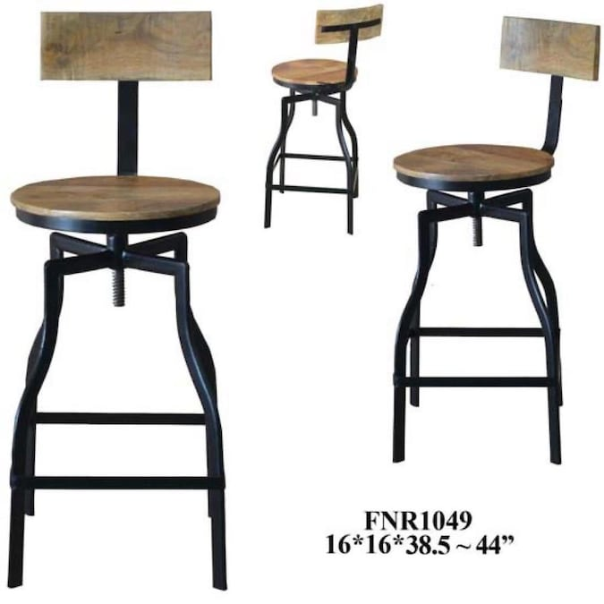 Whalen Set Of 2 Brown Adjustable Height Swivel Bar Stool In The Bar Stools Department At Lowes Com