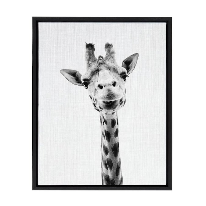 Kate And Laurel Sylvie Black Plastic Framed 24 In H X 18 In W Animals Canvas Print In The Wall Art Department At Lowes Com