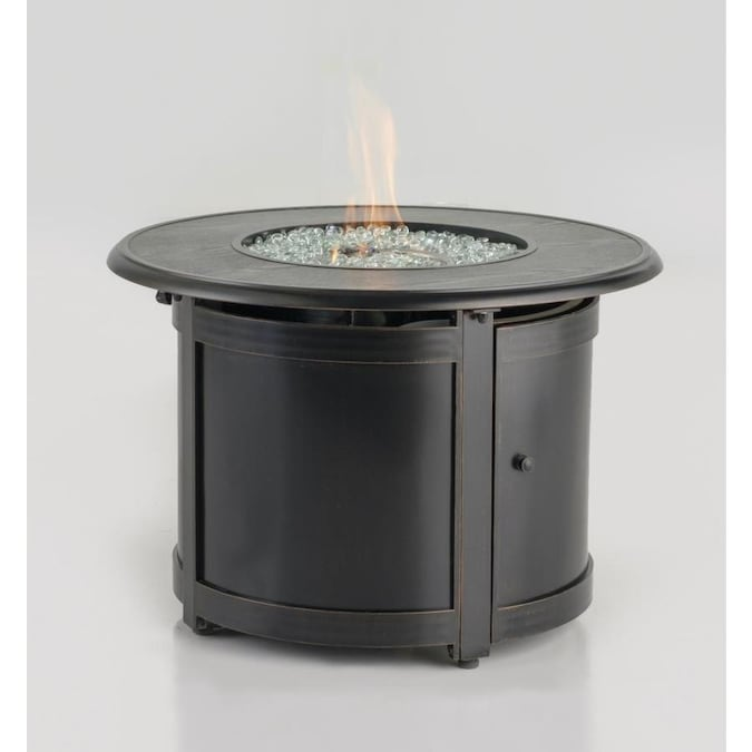 Alfresco Home 55 3014 35 5 In W 100000 Btu Blacksmith Portable Aluminum Natural Gas Fire Pit In The Gas Fire Pits Department At Lowes Com