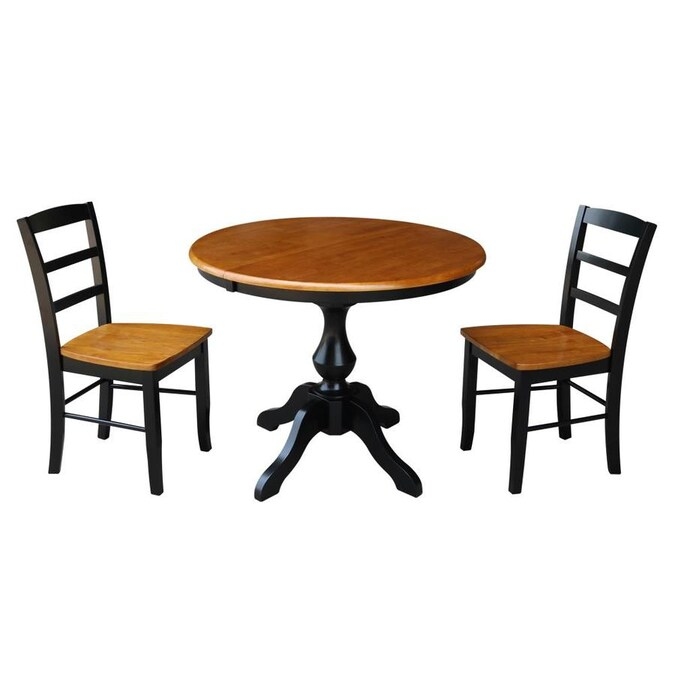 International Concepts Black Cherry Dining Room Set With Round Table In The Dining Room Sets Department At Lowes Com