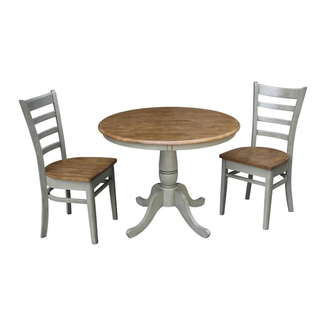 International Concepts Hickory Stone Dining Room Set With Round Table In The Dining Room Sets Department At Lowes Com