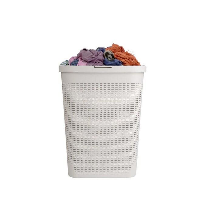 Mind Reader 40 Liter Plastic Laundry Hamper In The Laundry Hampers Baskets Department At Lowes Com