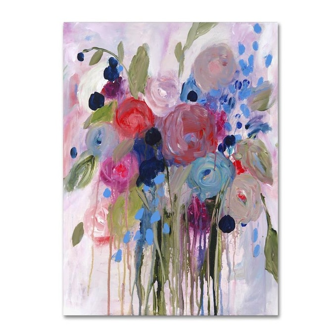 Trademark Fine Art Floral Framed 47 In H X 35 In W Floral Canvas Print In The Wall Art Department At Lowes Com