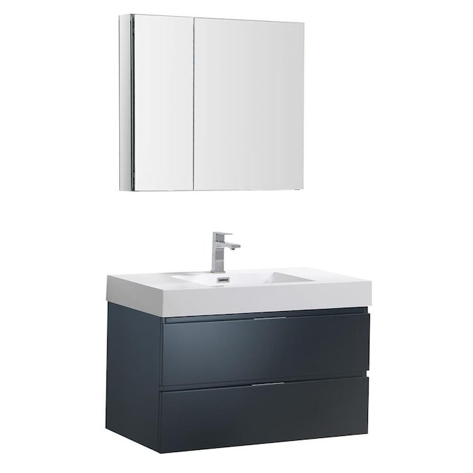 Fresca Bari 30 In Antique White Undermount Single Sink Bathroom Vanity With White Quartz Top Mirror And Faucet Included In The Bathroom Vanities With Tops Department At Lowes Com