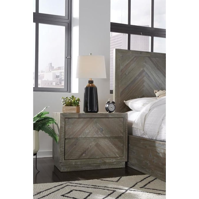 Tov Furniture Pesce Shagreen Nightstand In The Nightstands Department At Lowes Com
