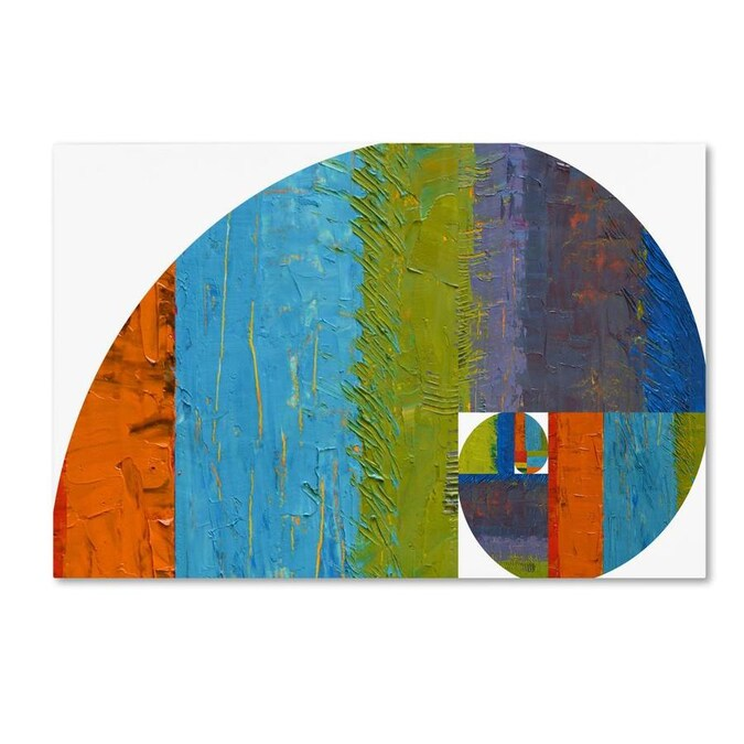 Trademark Fine Art Abstract Framed 30 In H X 47 In W Abstract Canvas Print In The Wall Art Department At Lowes Com