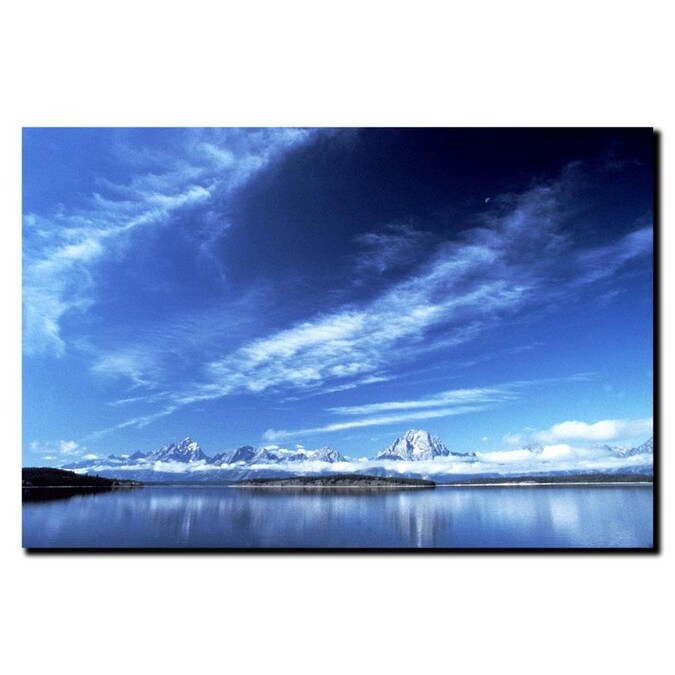 Trademark Fine Art Landscapes Framed 18 In H X 24 In W Landscape Canvas Print In The Wall Art Department At Lowes Com