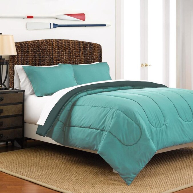 Westpoint Home Martex Reversible Comforter Set 2 Piece Turquoise Teal Twin Comforter Set In The Bedding Sets Department At Lowes Com