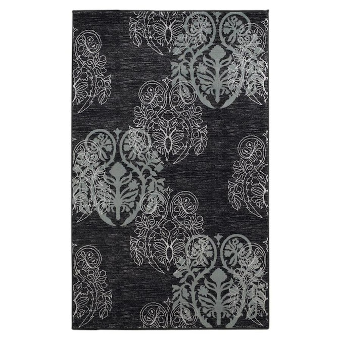 Linon Milan 2 X 3 Black Indoor Geometric Area Rug In The Rugs Department At Lowes Com