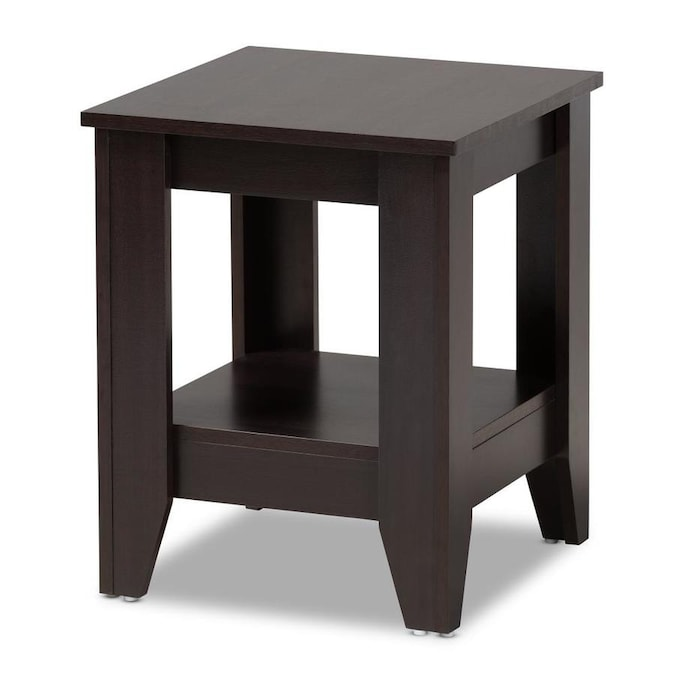 Baxton Studio Audra Dark Brown Wood End Table In The End Tables Department At Lowes Com