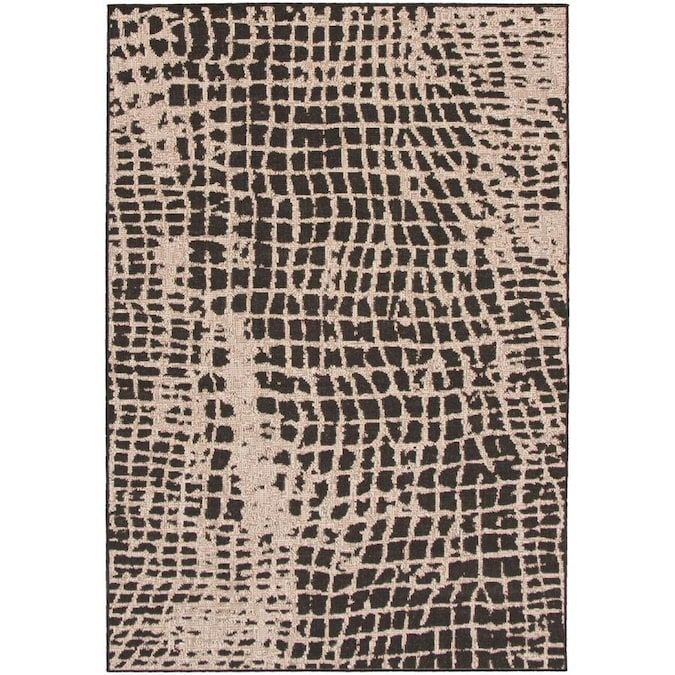 Ecarpetgallery Sisal Safari 8 X 10 Black Silver Abstract Bohemian Eclectic Area Rug In The Rugs Department At Lowes Com