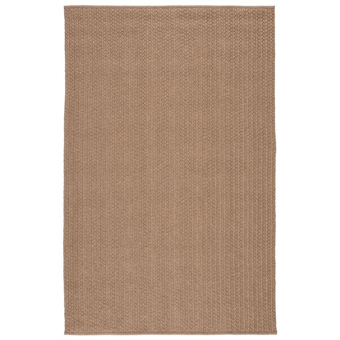 Lilia 8 X 10 Tan White Indoor Outdoor Solid Mid Century Modern Handcrafted Area Rug In The Rugs Department At Lowes Com