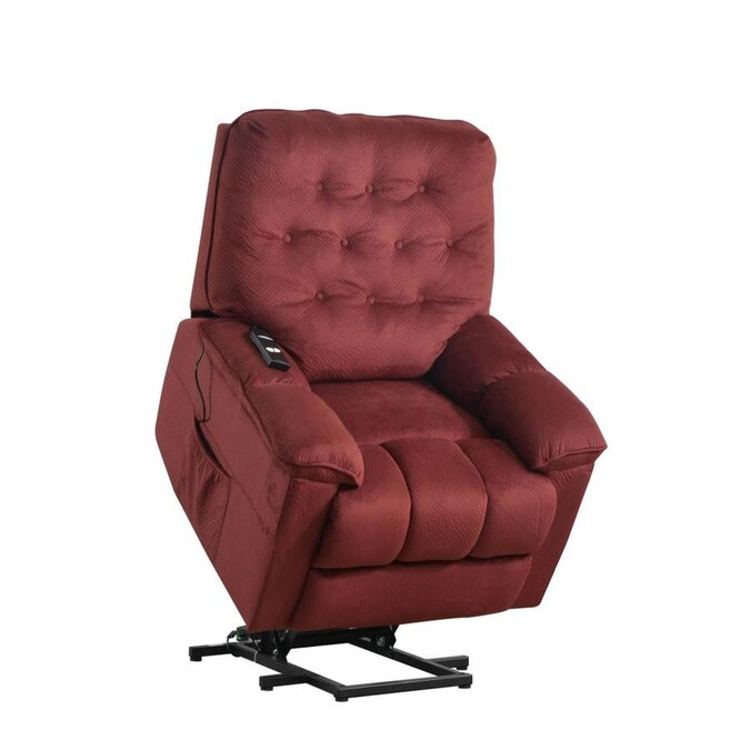 Casainc Power Lift Chair Soft Fabric Upholstery Recliner Living Room Sofa Chair With Remote In Dark Red In The Recliners Department At Lowes Com