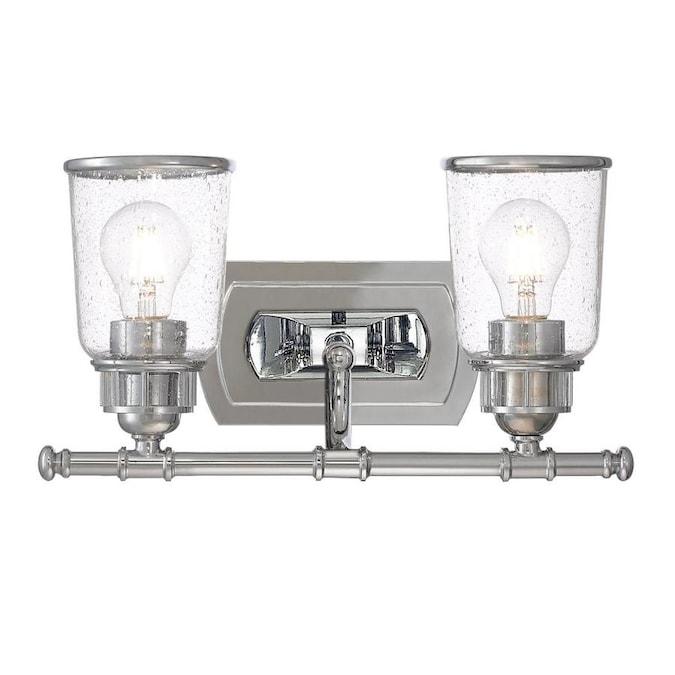 Livex Lighting Lawrenceville 2 Light Chrome Transitional Vanity Light In The Vanity Lights Department At Lowes Com