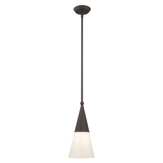 Livex Lighting Stockholm Bronze Modern Contemporary Cone Mini Pendant Light In The Pendant Lighting Department At Lowes Com