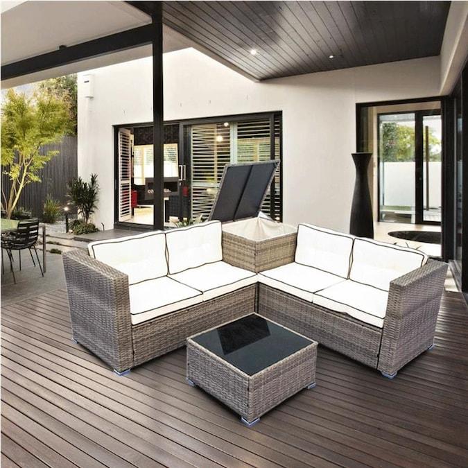 Kinwell Rattan Outdoor Furniture 4, Conversation Patio Furniture
