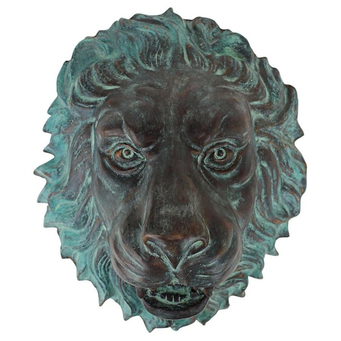 Design Toscano 13 In H X 11 In W Lion Metal Wall Sculpture In The Wall Accents Department At Lowes Com