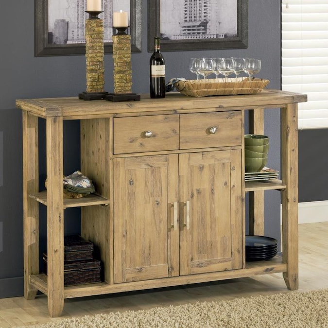 Modus Furniture Autumn Cider Acacia Sideboard In The Dining Kitchen Storage Department At Lowes Com