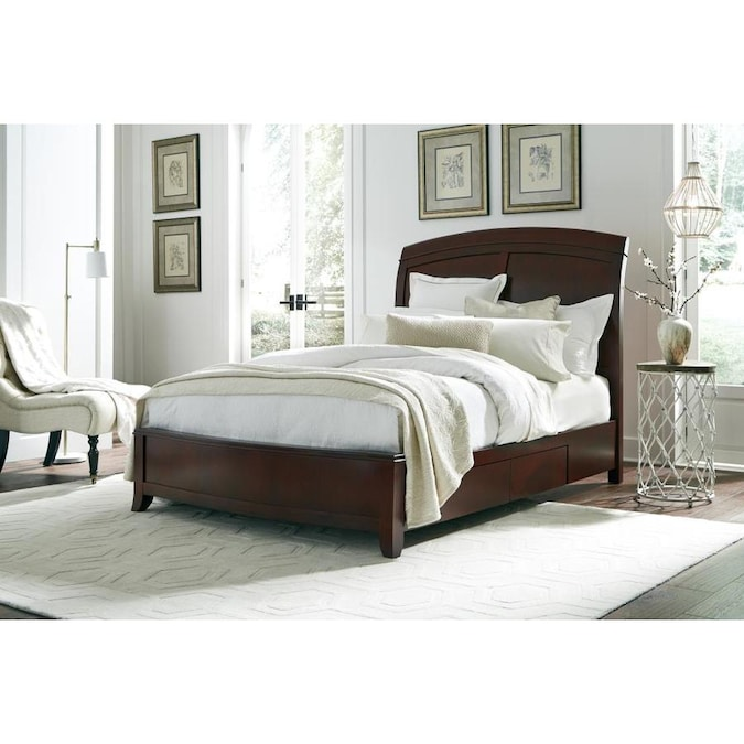 Modus Furniture Brighton Cinnamon King Platform Bed In The Beds Department At Lowes Com