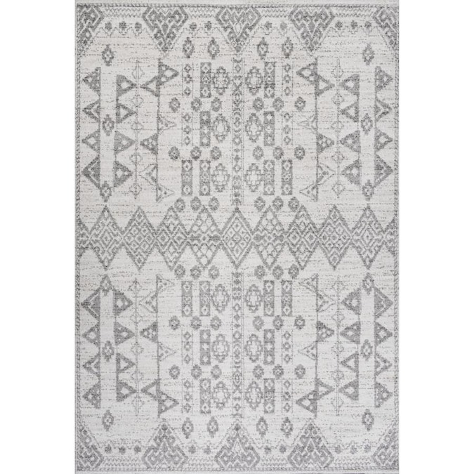 Jonathan Y Moroccan Hype 4 X 6 Gray Beige Indoor Area Rug In The Rugs Department At Lowes Com