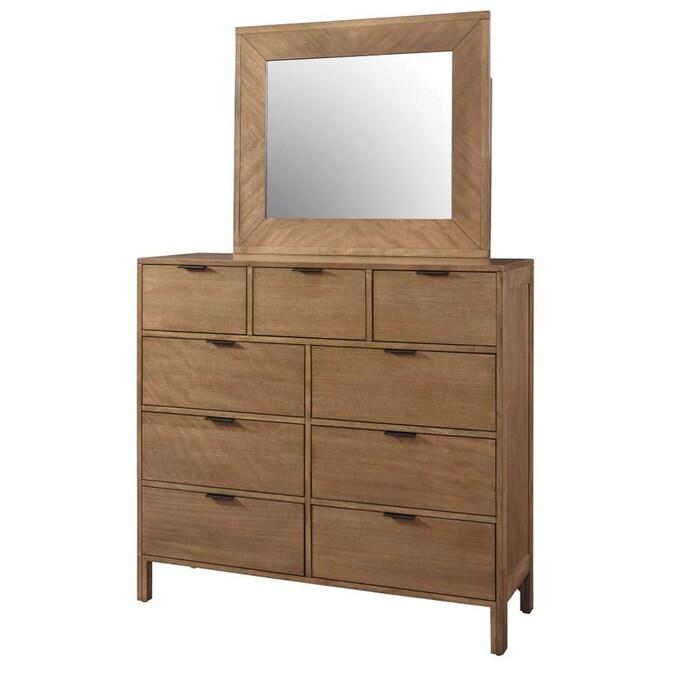 Progressive Furniture Strategy Jute Rubberwood 9 Drawer Dresser Yes Dresser Mount In The Dressers Department At Lowes Com