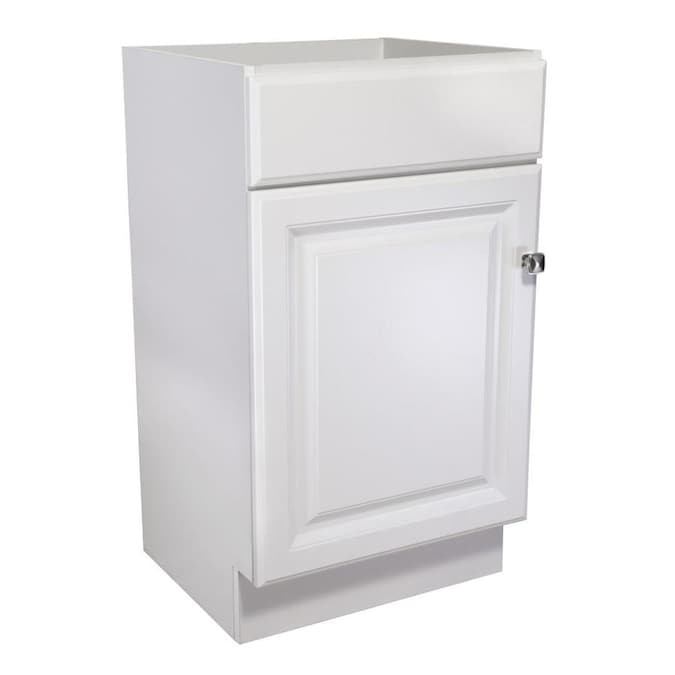 Design House Wyndham 18 In White Bathroom Vanity Cabinet In The Bathroom Vanities Without Tops Department At Lowes Com