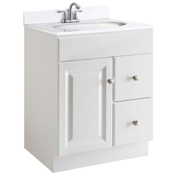 Design House Wyndham 24 In White Bathroom Vanity Cabinet In The Bathroom Vanities Without Tops Department At Lowes Com