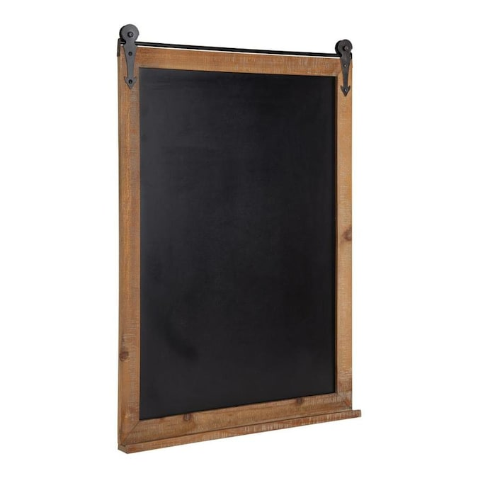 Kate And Laurel Cates Modern Farmhouse Barn Door Wood Framed Chalkboard Rustic Brown In The Memo Boards Department At Lowes Com