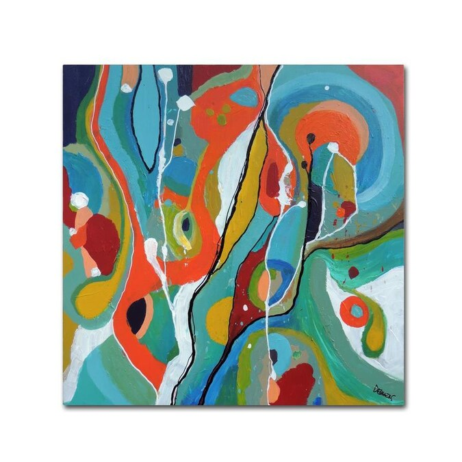 Trademark Fine Art Abstract Framed 35 In H X 35 In W Abstract Print On Canvas In The Wall Art Department At Lowes Com