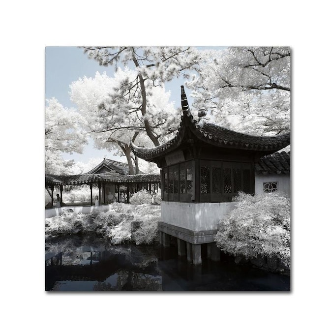 Trademark Fine Art Philippe Hugonnard Winter Temple 14x14 Canvas Art In The Wall Art Department At Lowes Com