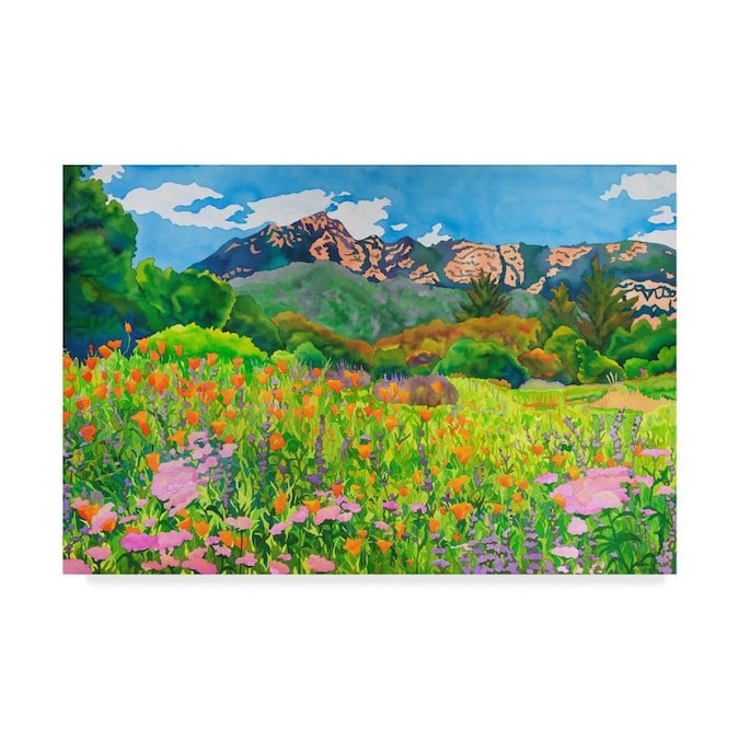 Trademark Fine Art Alfred Sisley The Cornfield 18x24 Canvas Art In The Wall Art Department At Lowes Com