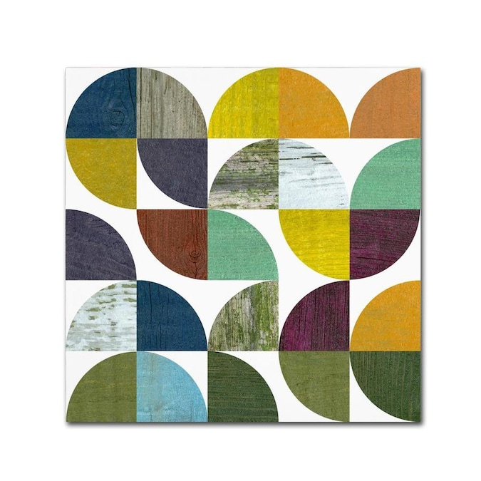Trademark Fine Art Michelle Calkins Inrustic Rounds 3 0 In 24x24 Canvas Art In The Wall Art Department At Lowes Com